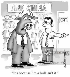 'It's because I'm a bull, isn't it.'